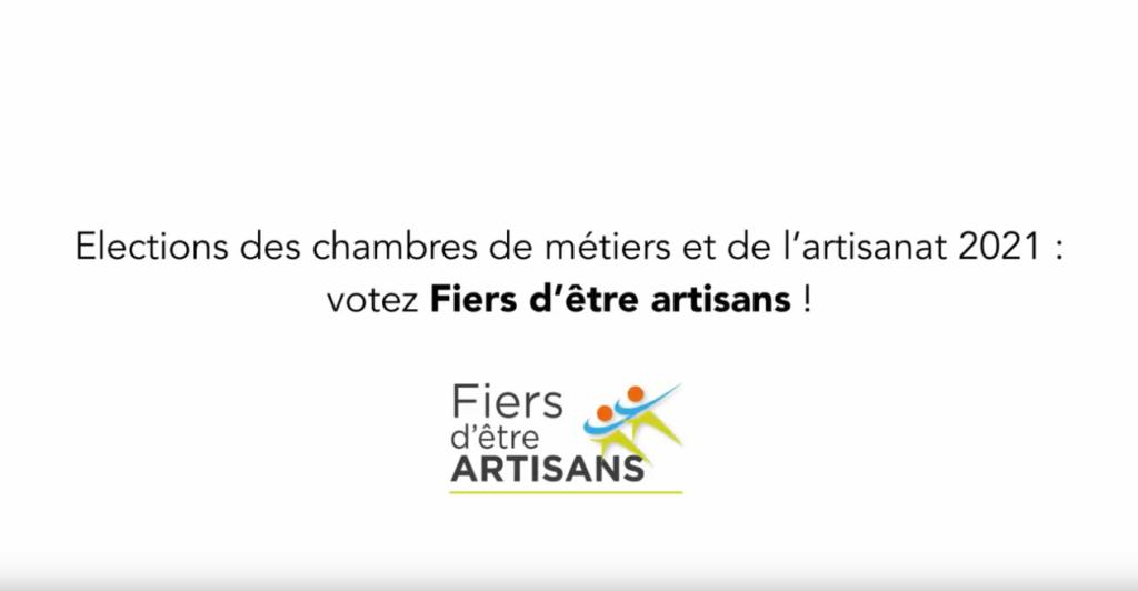 Votez : fiers d'être artisants !